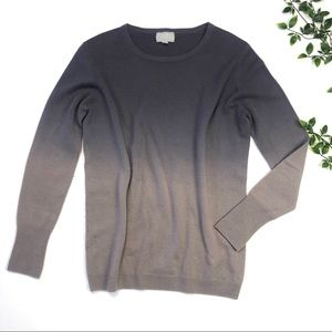 Pure Collection Cashmere Ombre Crewneck Sweater